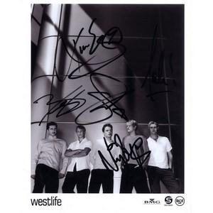 Westlife - Autograph - Signed Black and White Photograph