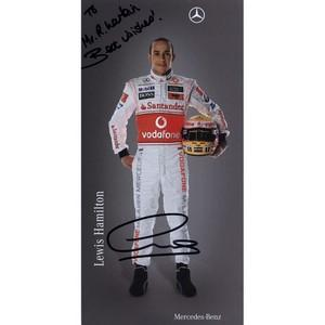 Lewis Hamilton - Autograph - Signature Mounted with Colour Photograph