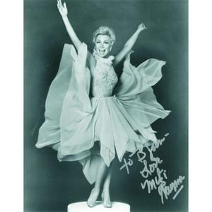 Mitzi Gaynor - Autograph - Signed Black and White Photograph