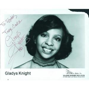 Gladys Knight - Autograph - Signed Black and White Photograph