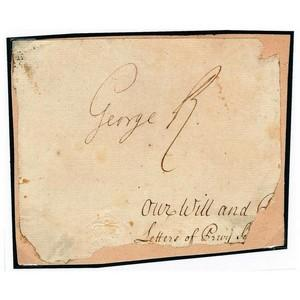 King George I - Signature - Signed Paper Fragment