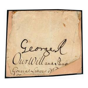 King George II - Signature - Signed Paper Affixed to Card