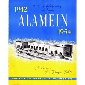 Montgomery of Alamein Signed Autographed Programme