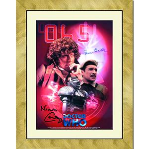 Tom Baker & Nicholas Courtney  - Autograph - Signed Colour Photograph - Framed