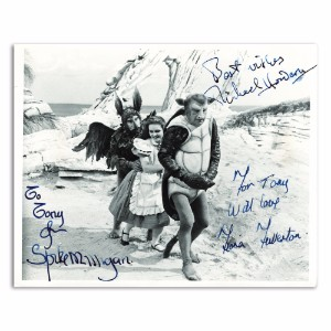 Spike Milligan, Michael Horden, Fiona Fullerton- Autograph - Signed Black and White Photograph