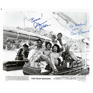 Alan Alda & Carol Burnett - Autograph - Signed Black and White Photograph