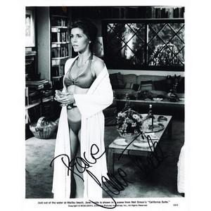 Jane Fonda  - Autograph - Signed Black and White Photograph