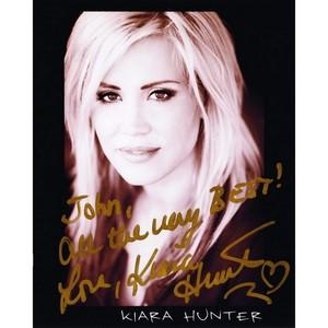 Kiara Hunter - Autograph - Signed Black and White Photograph