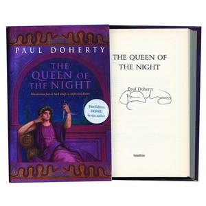 Paul Doherty Autograph - The Queen of the Night - Signed Book