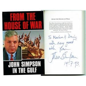 John Simpson 'From the House of War' - Signed Copy