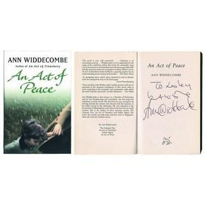 Ann Widdecombe Signed Copy of 'An Act of Peace'