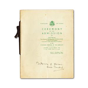 Montgomery of Alamein - Signature