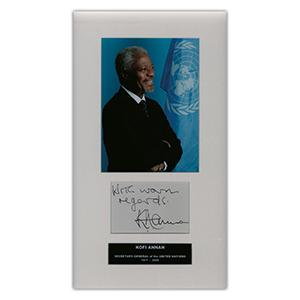 Kofi Annan - Autograph - Signed Colour Photograph