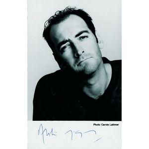 Alistair McGowan Signed Black and White Photograph