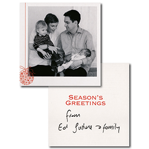 Ed and Justine Miliband Signed Christmas Card