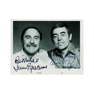Saint & Greavsie - Autograph - Signed Publicity Card