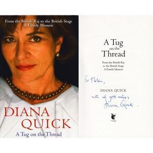 Diana Quick Autograph - Thread - Signed Book