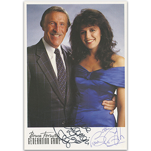 Bruce Forsyth and Rosemarie Ford - Autograph - Signed Colour Photograph