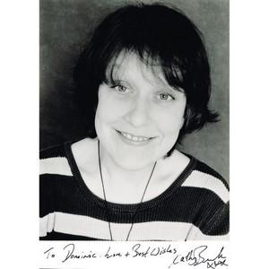 Kathy Burke - Autograph - Signed Black and White Photograph