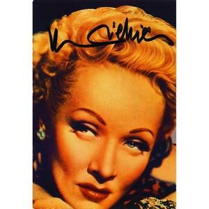Marlene Dietrich  - Autograph - Signed Colour Photograph