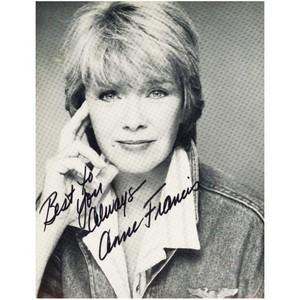 Anne Francis  - Autograph - Signed Black and White Photograph