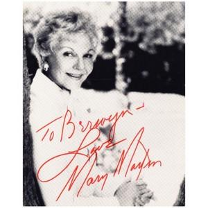 Mary Martin - Autograph - Signed Black and White Photograph