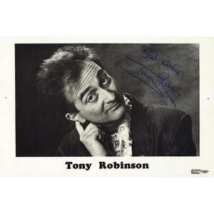 Tony Robinson  - Autograph - Signed Black and White Photograph