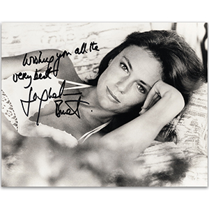 Jacqueline Bissett - Autograph - Signed Black and White Photograph