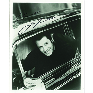 John Travolta - Autograph - Signed Black and White Photograph