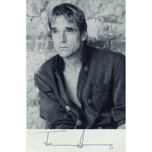 Jeremy Irons - Autograph - Signed Black and White Photograph