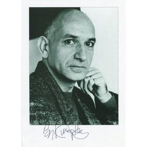 Ben Kingsley - Autograph - Signed Black and White Photograph