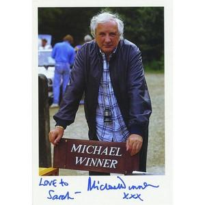 Michael Winner  - Autograph - Signed Colour Photograph