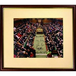 Edward Heath, John Major, Tony Blair & Betty Boothroyd - Signatures