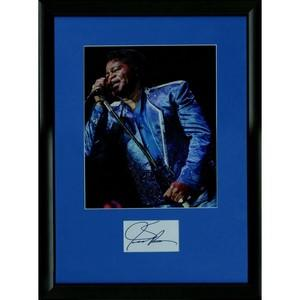 James Brown - Autograph - Mounted with Colour Photograph