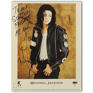 Michael Jackson  - Autograph - Signed Colour Photograph