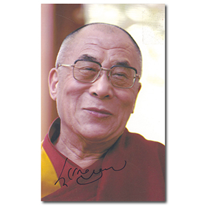 DALAI  LAMA - Autograph - GENUINE. Comes with a Certiicate of Authenticity.
