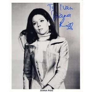 Diana Rigg - Autograph - Signed Black and White Photograph