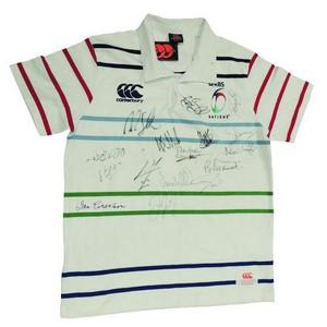 Six Nations Captains & Coaches Signatures - Signed Rugby Shirt