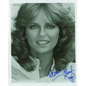 Cheryl Tiegs Signed Black and White Photograph