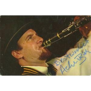 Acker Bilk Signed  Colour Photograph