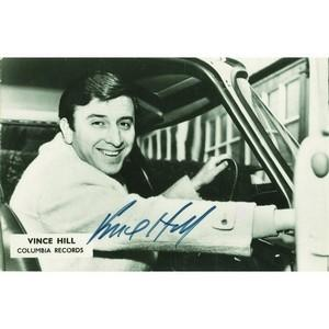 Vince Hill - Autograph - Signed Black and White Photograph