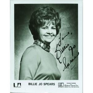 Billie Jo Spears  Signed Black and White Photograph