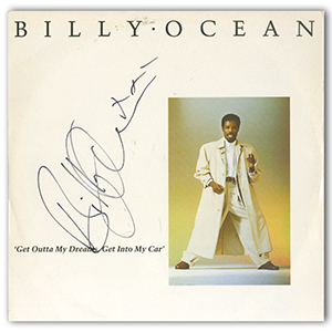 Billy Ocean - Autograph - Signed Album Cover