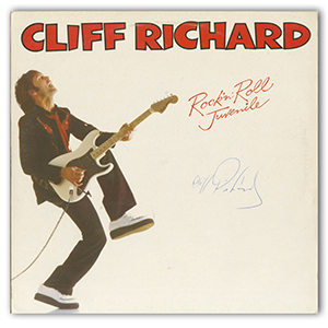 Cliff Richard - Autograph - Signed Album Cover