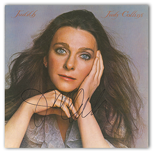 Judy Collins - Autograph - Signed Album Cover