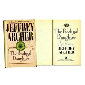 Jeffrey Archer Signed Book 'The Prodigal Daughter'