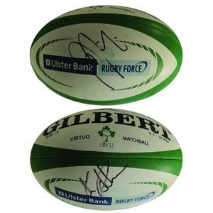 Chris Robshaw and Jamie Heaslip - Autograph - Signed Rugby Ball