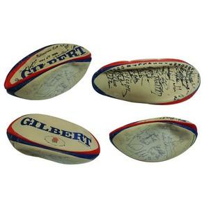 Signed Rugby Ball - 1996 Pilkington Silver Jubilee cup final