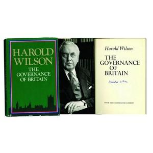 Harold Wilson - Signature - The Goverance of Britain - Signed Book