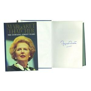 Margaret Thatcher Signed Book